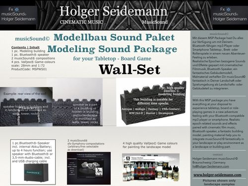 Modeling Sound Package Wall Set