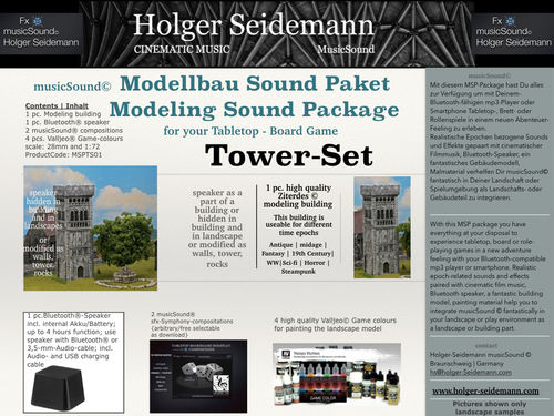 Modeling Sound Package Tower Set